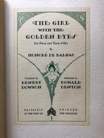 Girl with the Golden Eyes [La Fille aux Yeux d'Or] (USED)