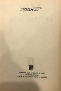 Beds,  by  Groucho  Marx  (1st  edition)