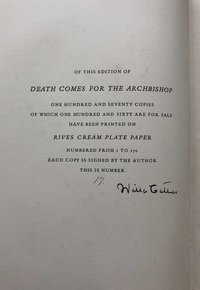 Death Comes for the Archbishop (Signed limited edition)