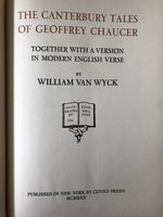 Canterbury Tales of Geoffrey Chaucer, together with a Version in Modern English Verse by William Van Wyck, Illustrated by Rockwell Kent (USED)