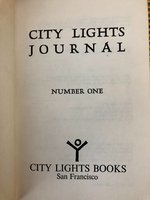 City  Lights  Journal,  Number  One