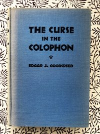 Curse in the Colophon (Signed 1st edition)