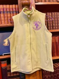 Loganberry microfleece vest - large