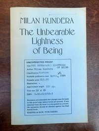 The Unbearable Lightness of Being (Uncorrected proof) (USED)