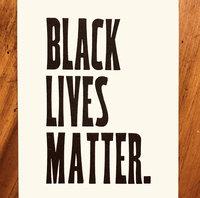 Black Lives matter - postcard