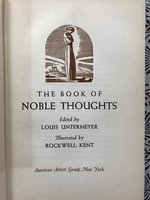 Book of Noble Thoughts, illustrated by Rockwell Kent
