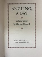 Angling, A Day, and Other Poems (Signed limited edition) (USED)