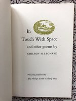 In Touch with Space and Other Poems (USED)