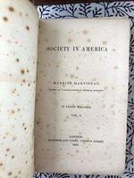 Society in America (Rare 1837 publication!)