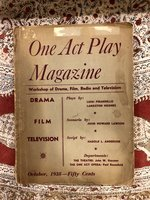 One Act Play Magazine, Vol. 2, Number 4, October 1938: Plays by Luigi Pirandello and Langston Hughes (USED)