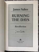 Burning the Days : Recollection (Signed 1st edition)